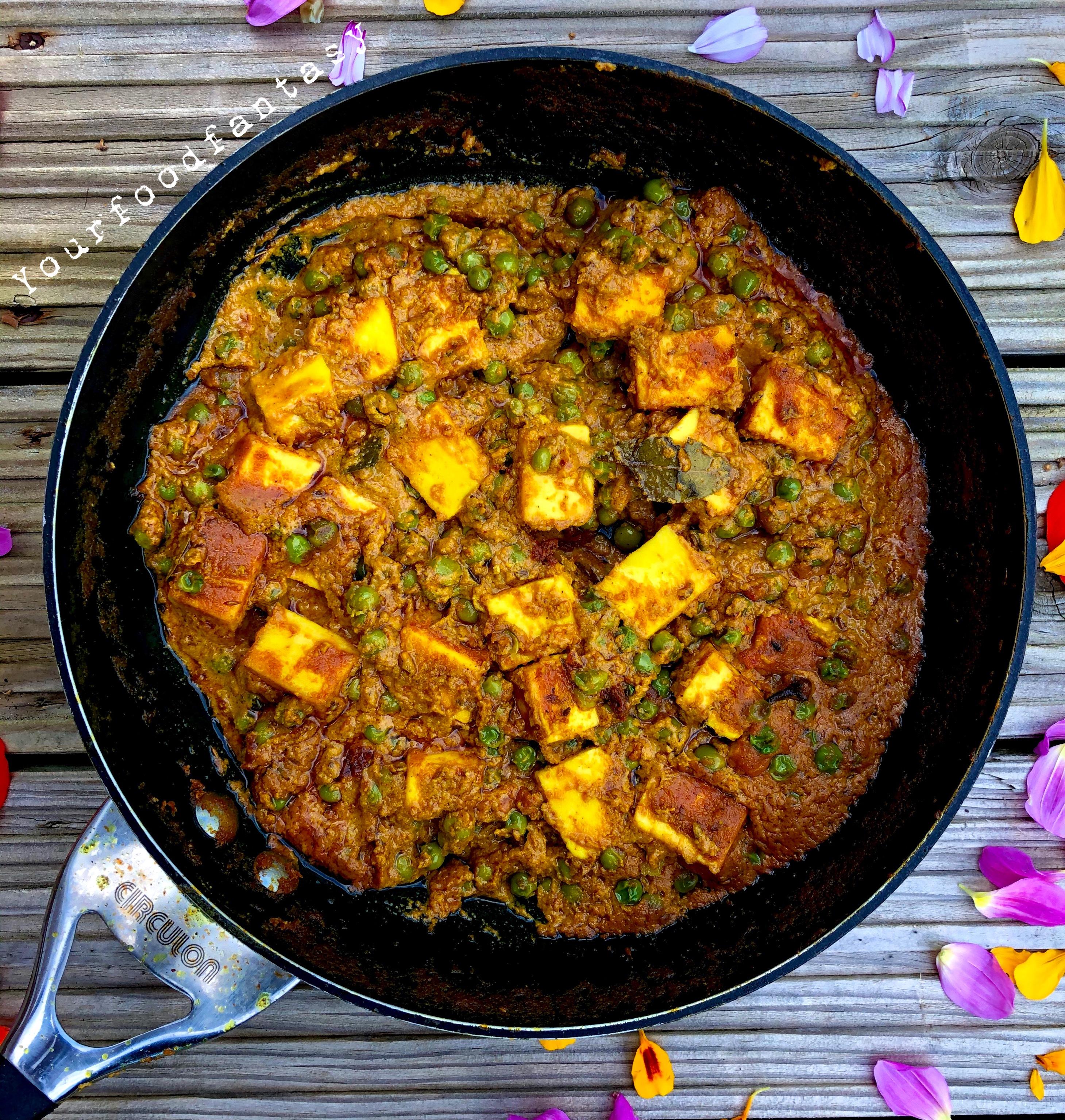 Homemade Matar Paneer | Easy Paneer recipe | Your Food Fantasy