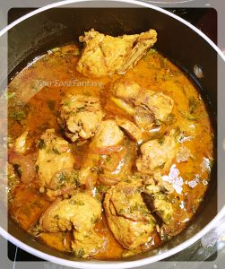 Cooked chicken for chicken biryani   Your Food Fantasy