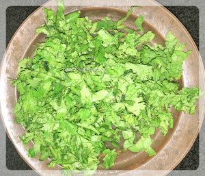 corriander for chicken biryani recipe at yourfoodfantasy.com by meenu gupta