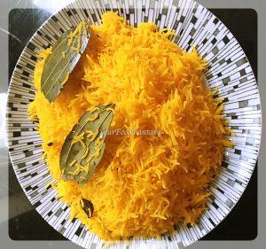 Yellow rice for chicken biryani recipe | yourfoodfantasy.com