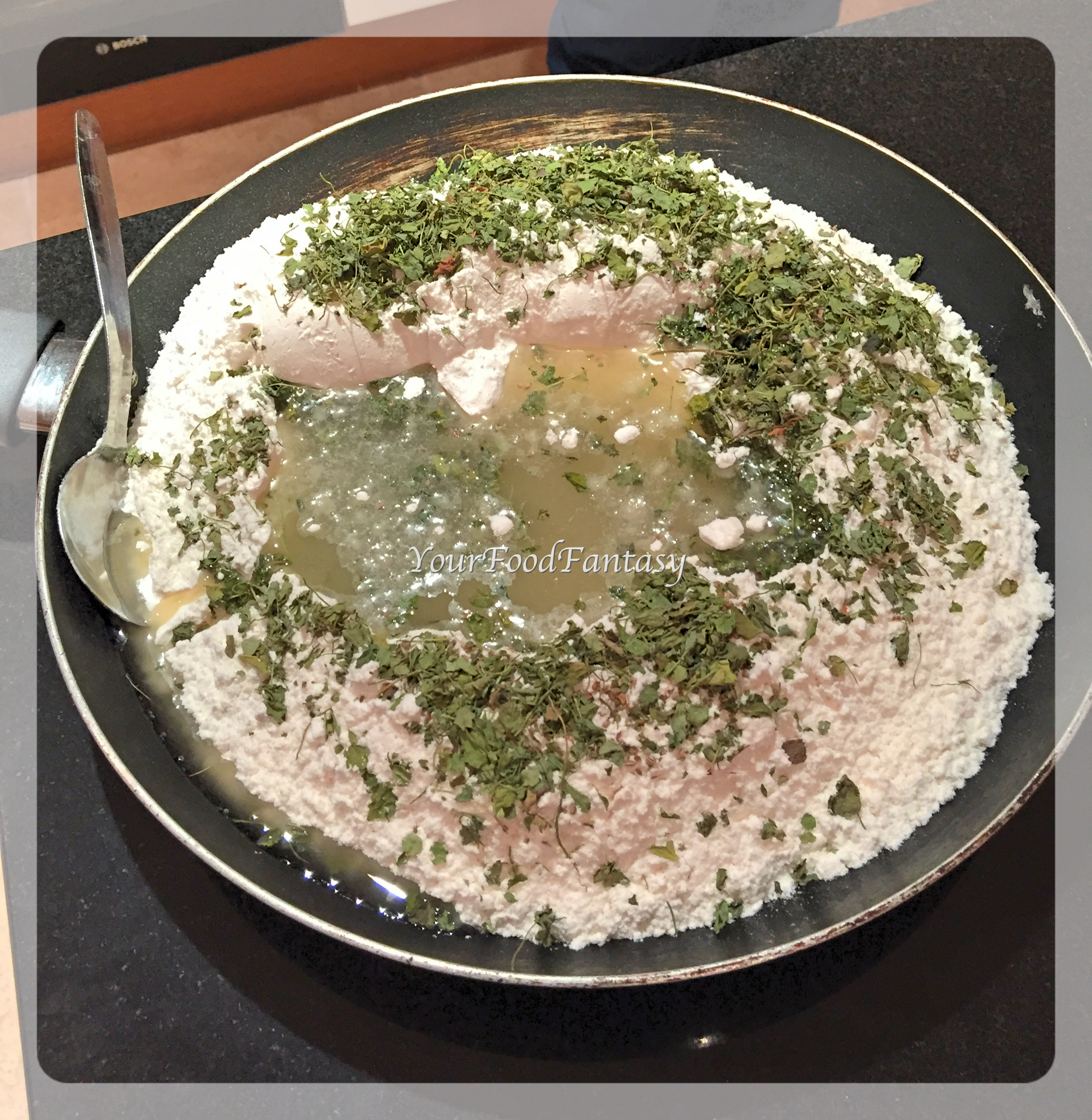 Preparating Dough | Namak Pare recipe
