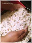 mixing filling for gujiya | gujiya recipe at yourfoodfantasy