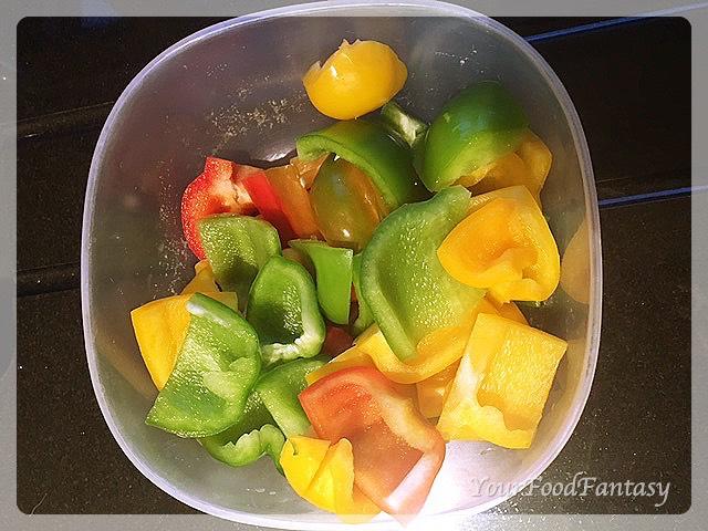 Bell peppers for paneer tikka | paneer tikka recipe