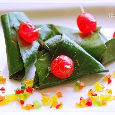 Delicious sweet paan or meetha paan | your food fantasy