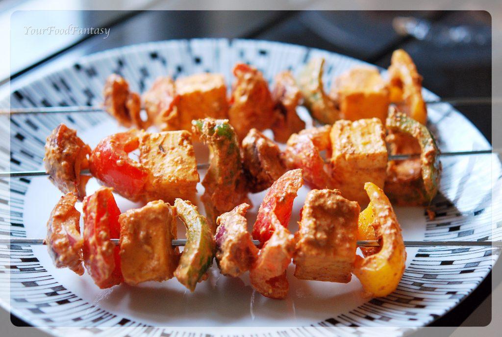 Seekh Paneer Tikka Recipe | yourfoodfantasy.com