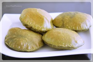 Palak Poori recipe at YourFoodFantasy.com by Meenu Gupta