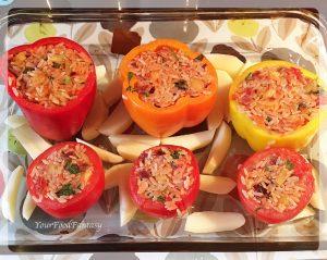 Gemista Recipe - Greek food - Yemista   Gemista   YourFoodFantasy.com