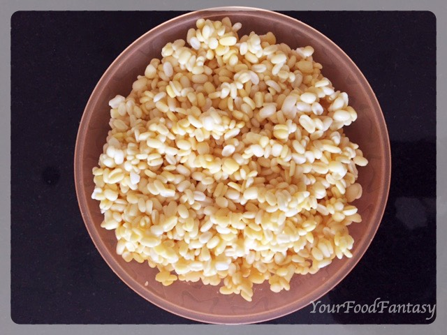 Soaked Moong Dal for Moong Dal Halwa