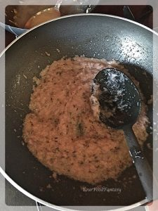 Frying Onion for Lauki Kofta Curry