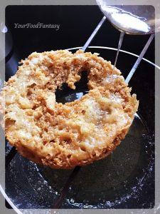Putting Sugar Syrup | Ghevar Recipe | YourFoodFantasy.com