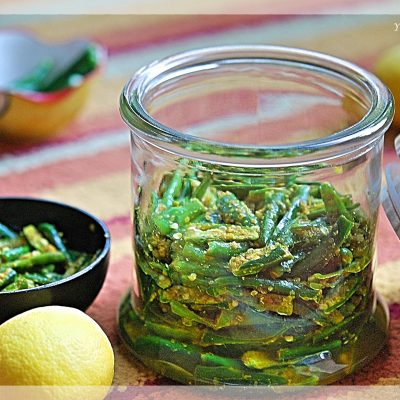 How to make instant green chilli pickle   YourFoodFantasy.com