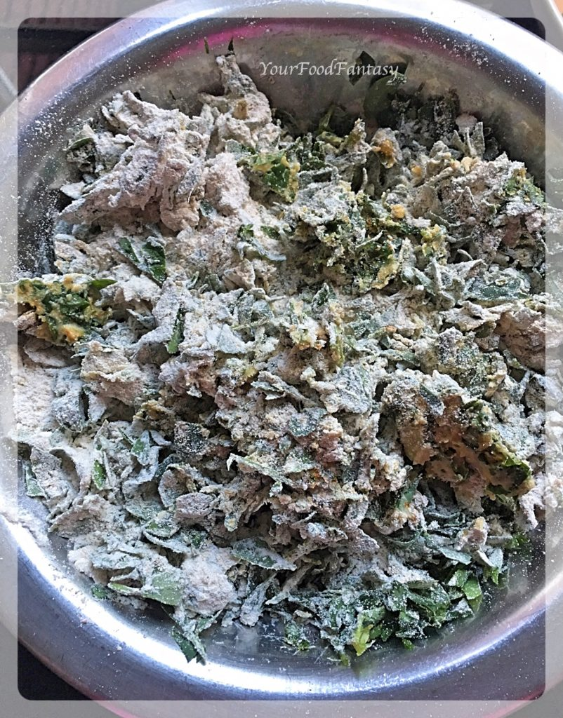 Making dough for Methi Paratha   YourFoodFantasy.com