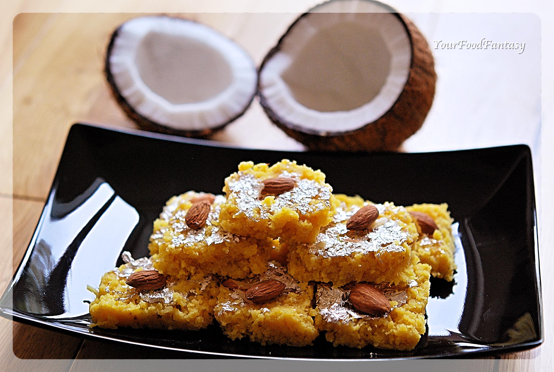 Coconut Barfi Recipe   Your Food Fantasy