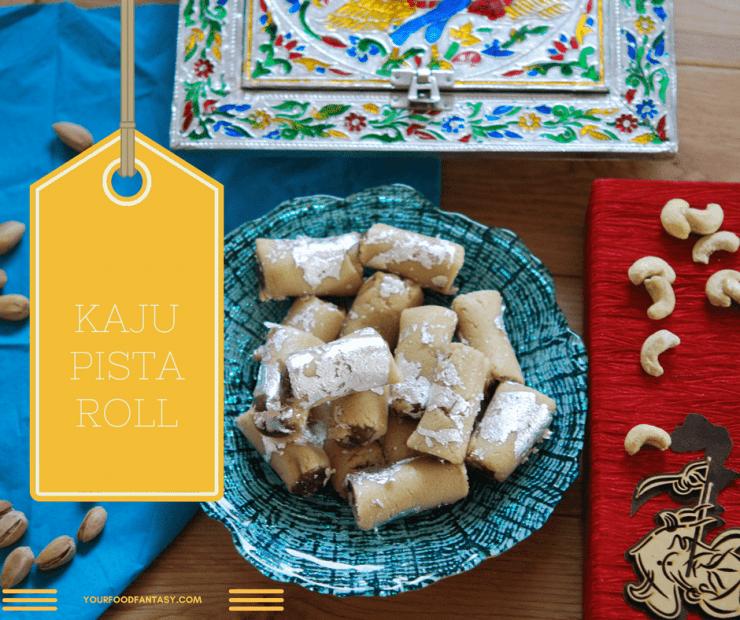 Kaju Pista Roll Recipe, How to make Kaju pista roll