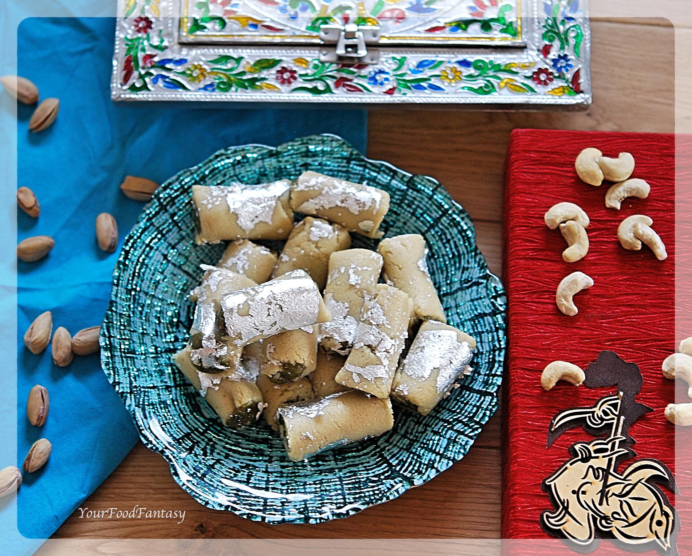 How to Make Kaju Pista Roll