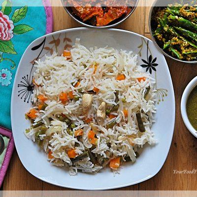 Veg Pulao Recipe - Pilaf Rice   Your Food Fantasy