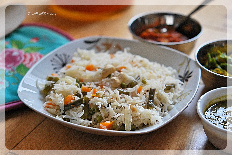 Easy Home made Veg Pulao Rice