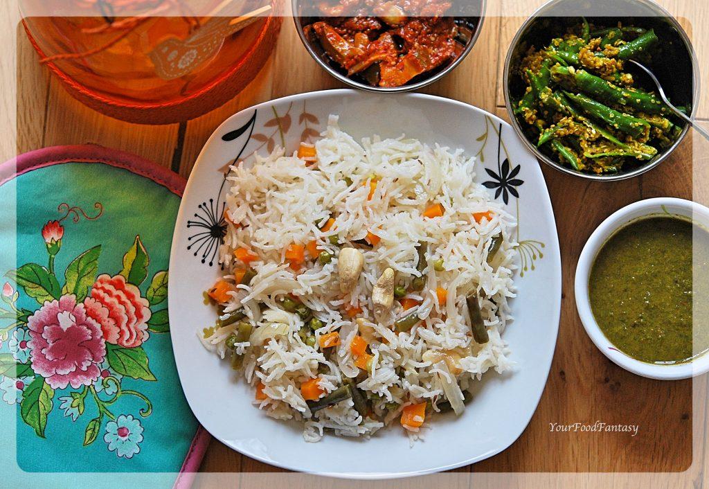Veg Pulao - Vegetarian Pulao Recipe
