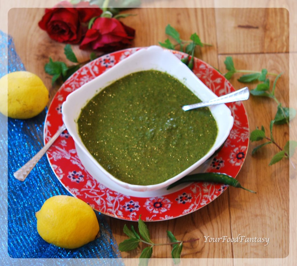Coriander Mint Green Chutney Recipe