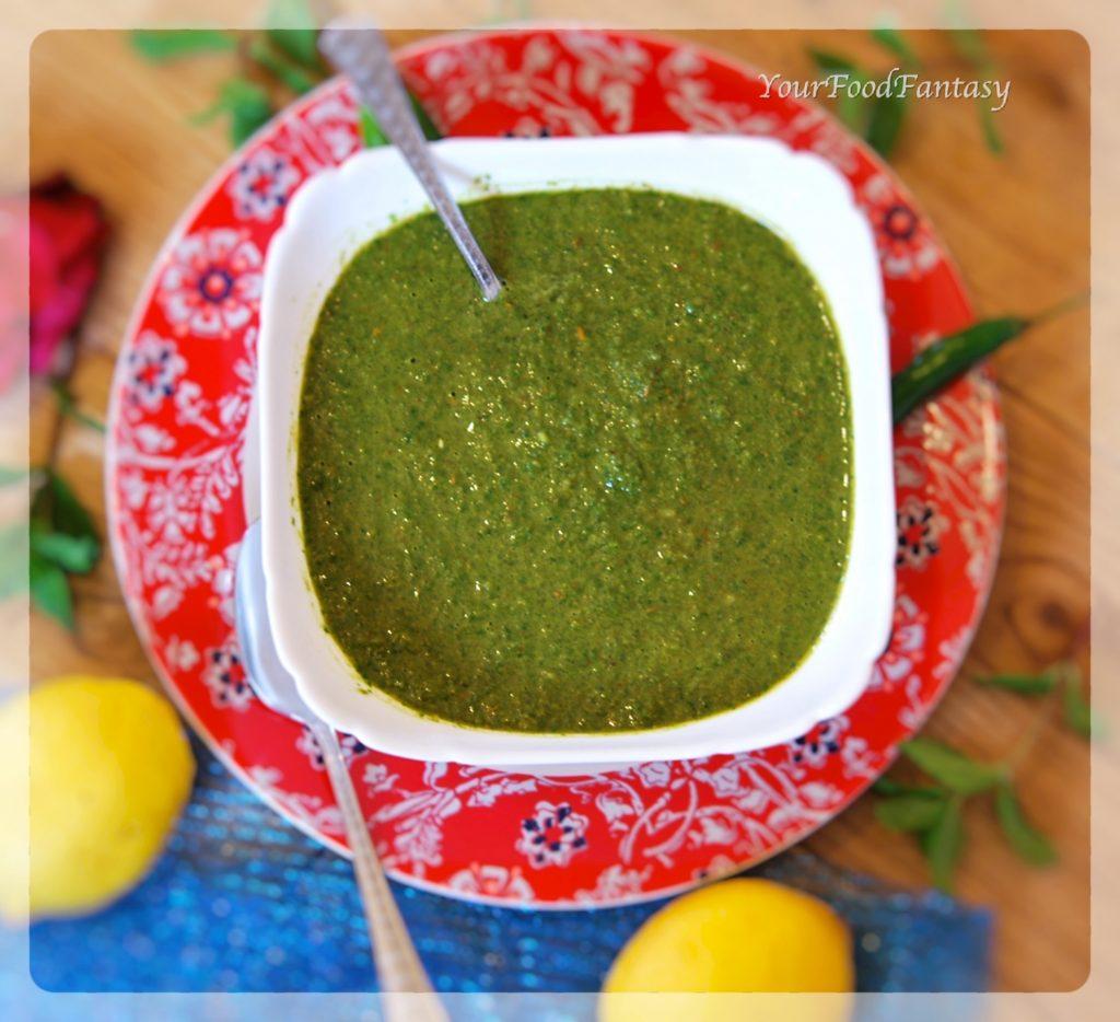 Mint Green Coriander Chutney Recipe
