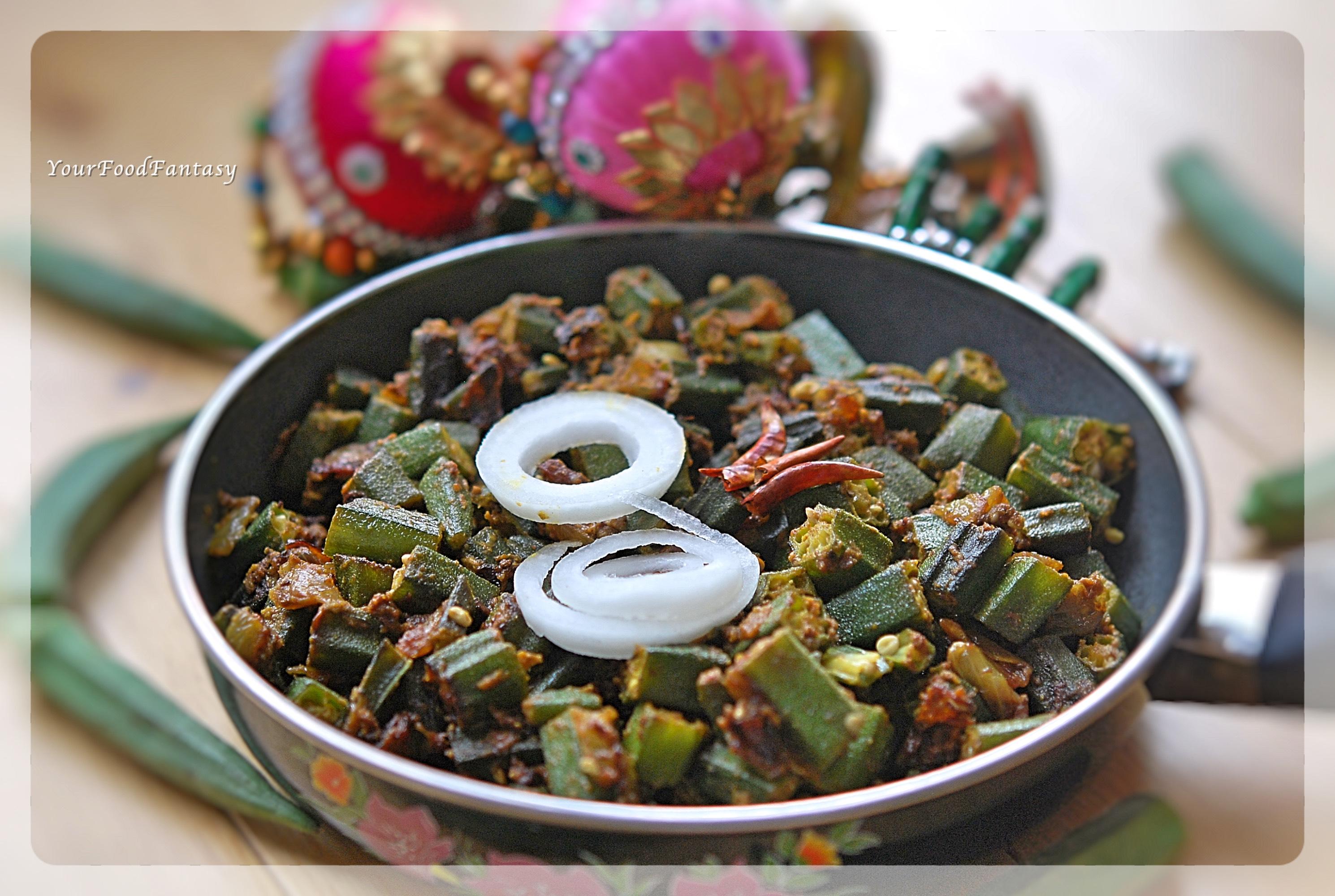 Dry Bhindi Masala Recipe | YourFoodFantasy.com by Meenu Gupta