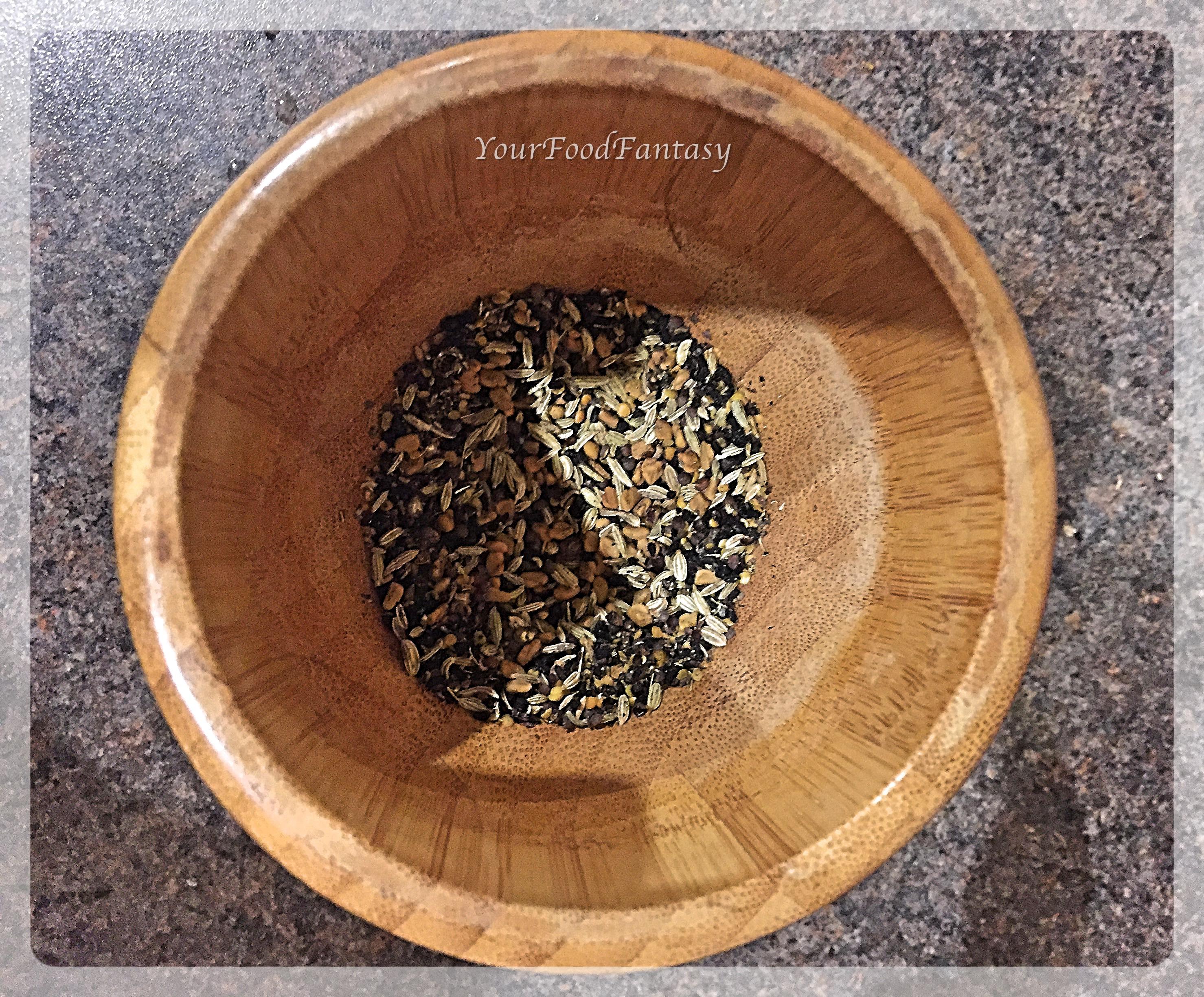 Grinding Spices for Achari Paneer | YourFoodFantasy.com by Meenu Gupta.jpg