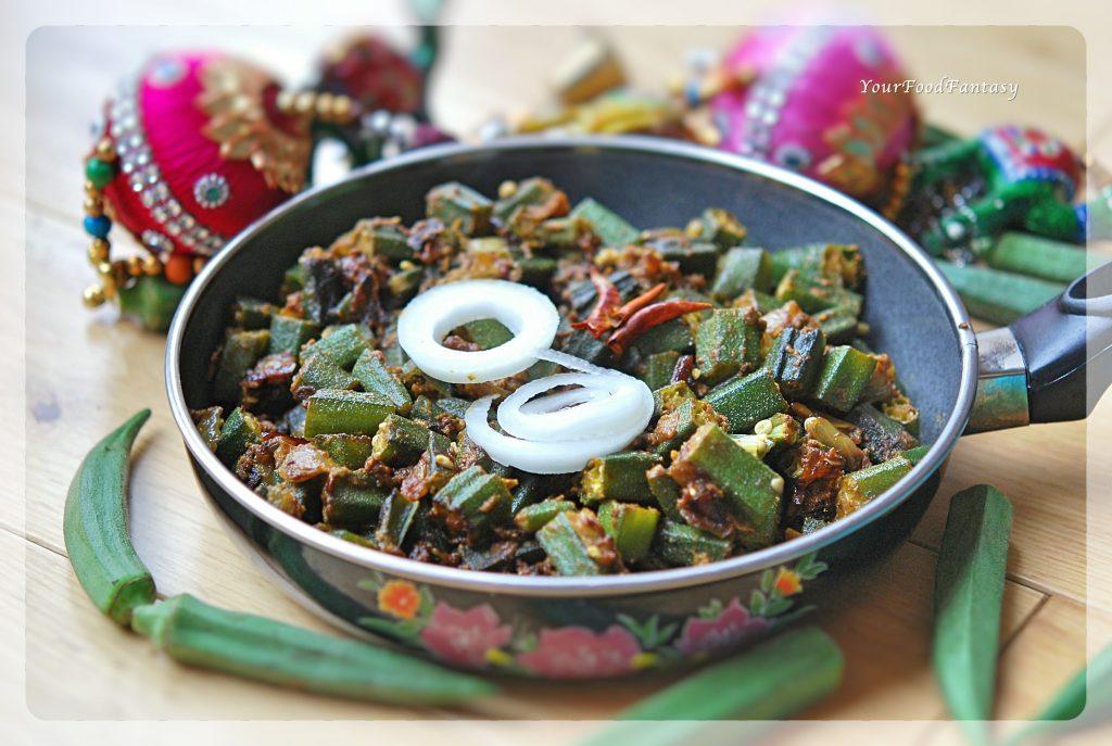 Bhindi Masala Recipe - Dhaba Style Recipe | Your Food Fantasy
