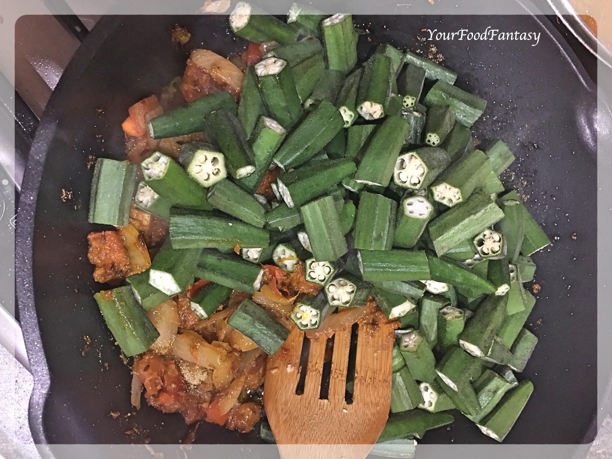Bhindi Do Pyaza Recipe | YourFoodFantasy.com by Meenu Gupta