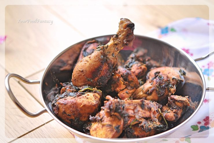 Palak Chicken Curry Recipe | Your Food Fantasy