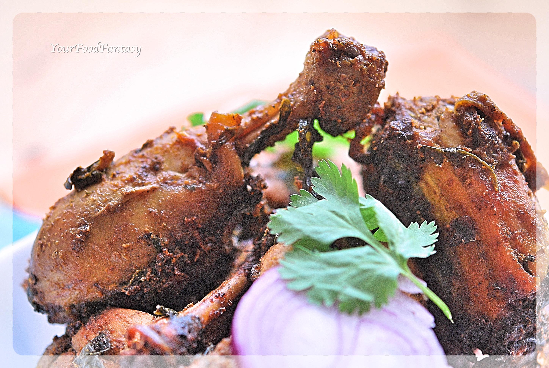 Spinach Chicken Recipe | Chicken Curry | Your Food Fantasy