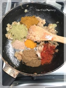 Adding Spices in Stuffing of Stuffed Karela | Your Food Fantasy