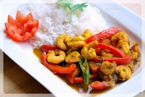 Capsicum Prawn Curry Recipe   Your Food Fantasy by Meenu Gupta