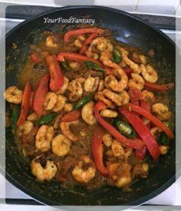 Prawn Capsicum Curry Recipe | Your Food Fantasy