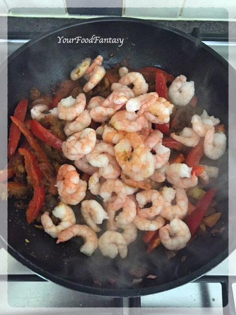 Prawn Capsicum Curry Recipe | YourFoodFantasy.com by Meenu Gupta