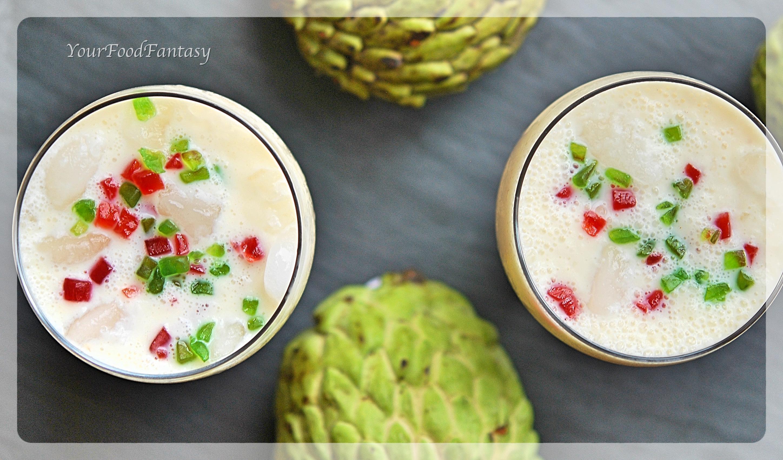 Custard Apple Recipes   Milkshake Recipes   YourFoodFantasy.com by Meenu Gupta