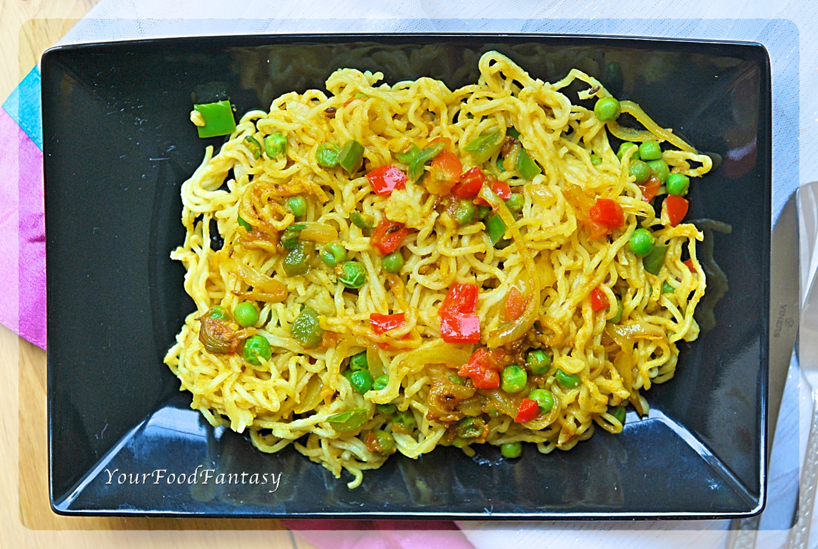 Vegetable Maggi Noodles Recipe Indian Style - Your Food Fantasy