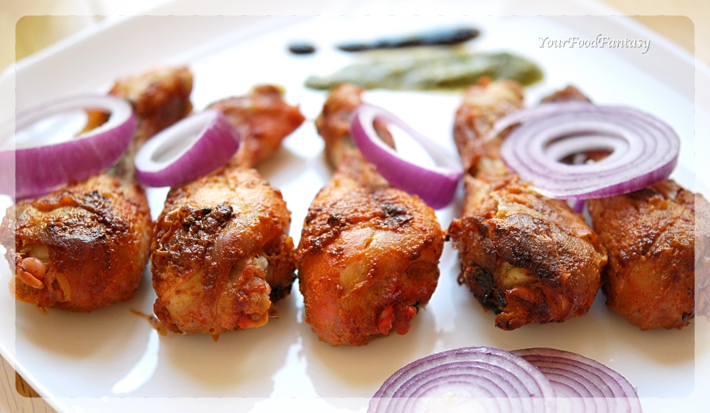 Oven Baked Tandoori Chicken Recipe   Your Food Fantasy