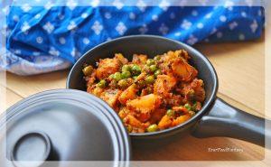 Dry Potato Peas Curry | Your Food Fantasy