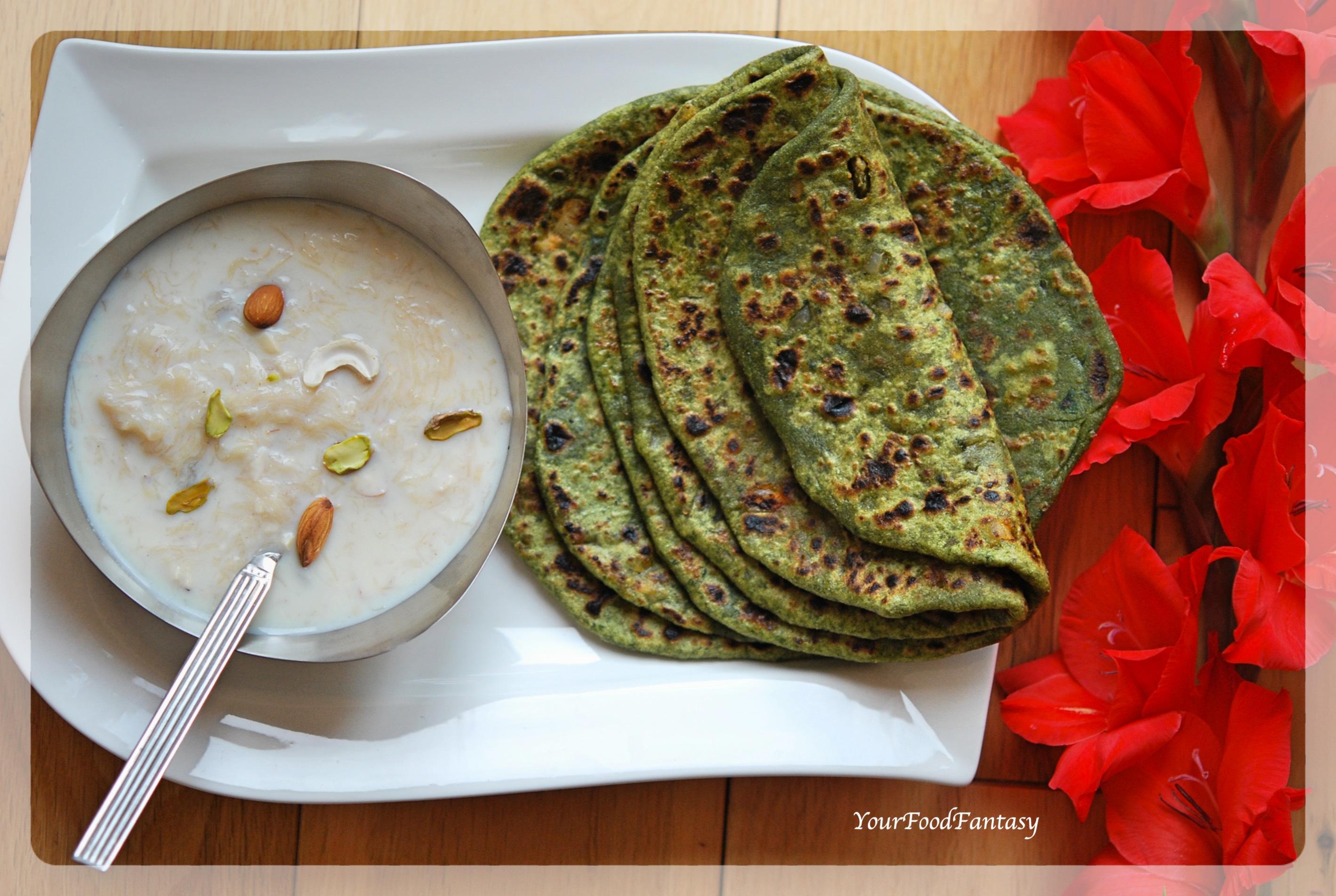 Palak Paneer Paratha | YourFoodFantasy.com