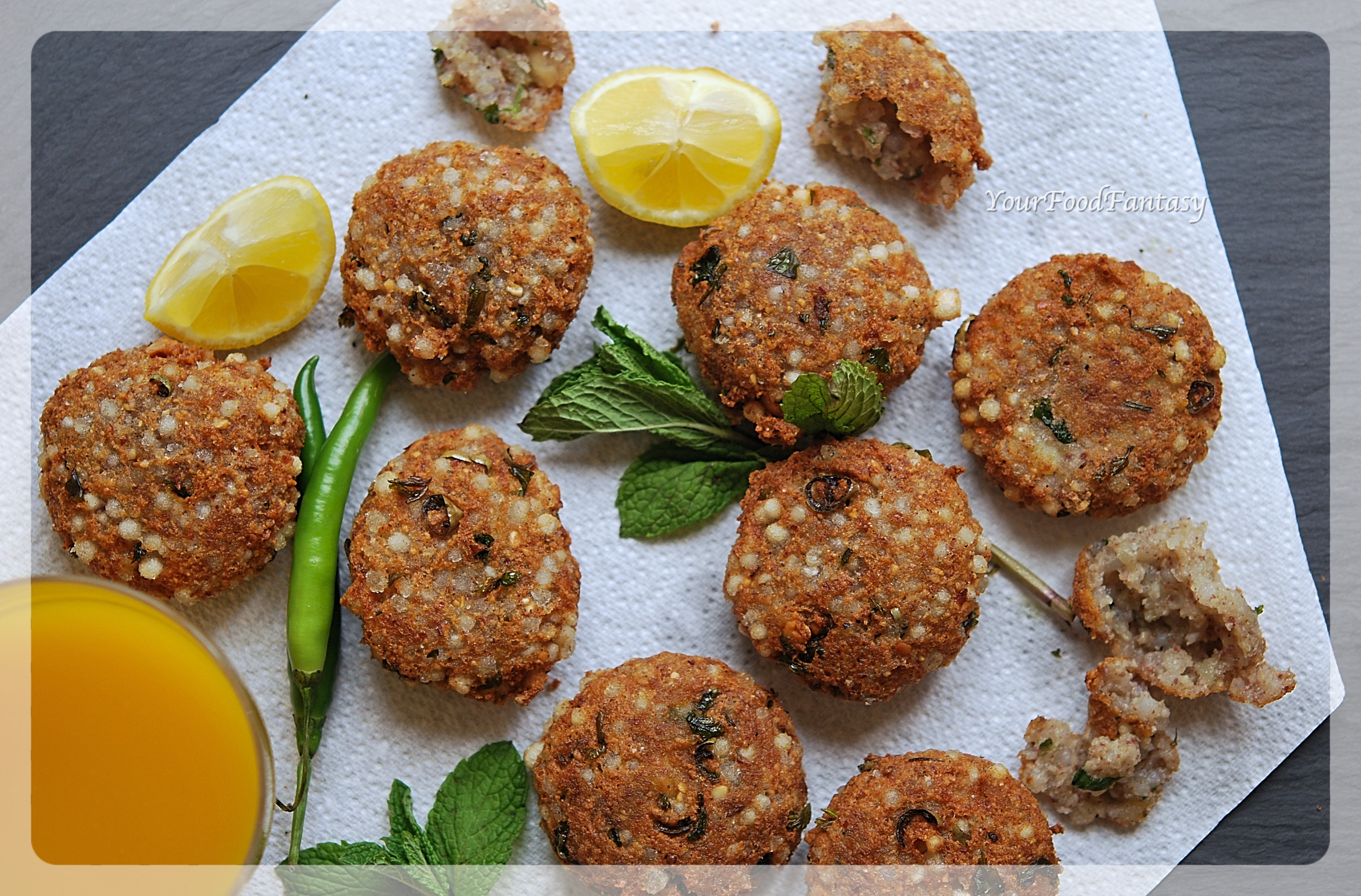 Sabudana Vada Recipe | Navratri Food Recipe | YourFoodFantasy.com