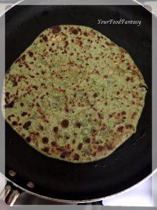 Shallow Frying Paratha - Palak Paneer Paratha Recipe | YourFoodFantasy