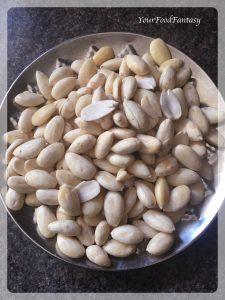 Almonds for Badam Burfi   Your Food Fantasy