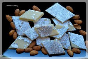 Badam Burfi Recipe   Your Food Fantasy