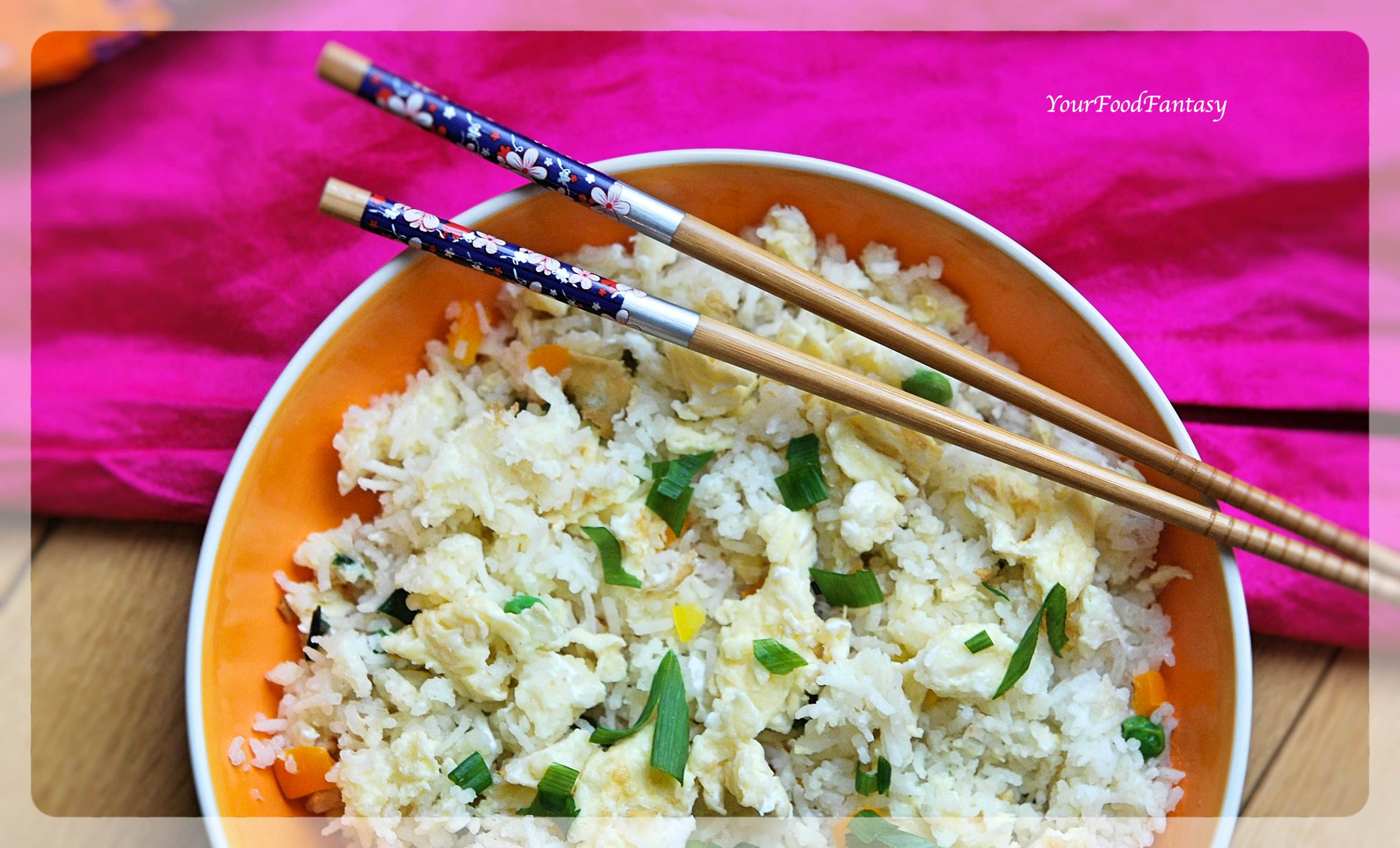 Easy Egg Fried Rice Recipe | Your Food Fantasy