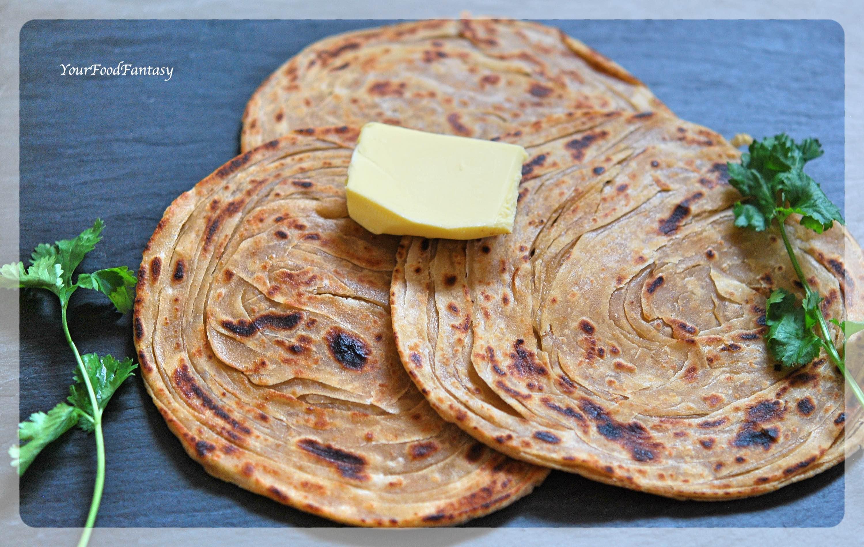 Layered Laccha Paratha Recipe | YourFoodFantasy.com