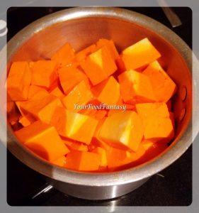 Paneer cubes for Kadai Paneer | Your Food Fantasy