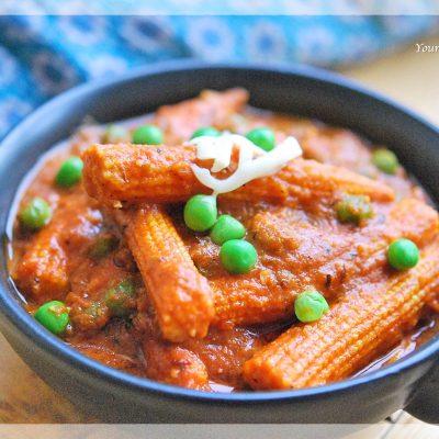 Baby Corn Masala Curry Recipe | Your Food Fantasy