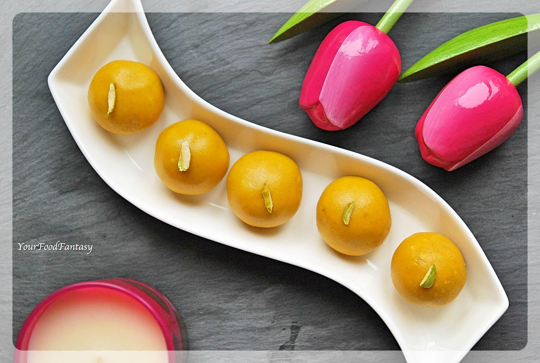 Besan Ladoo Recipe | Your Food Fantasy