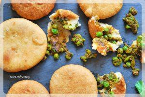Matar Kachori Recipe | Green Pea Stuffed Fried Patties | Your Food Fantasy