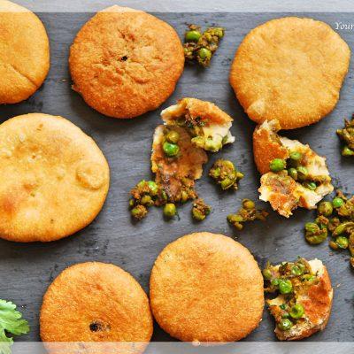 Matar Ke Kachori   Green Pea Stuffed Fried bread   Your Food Fantasy